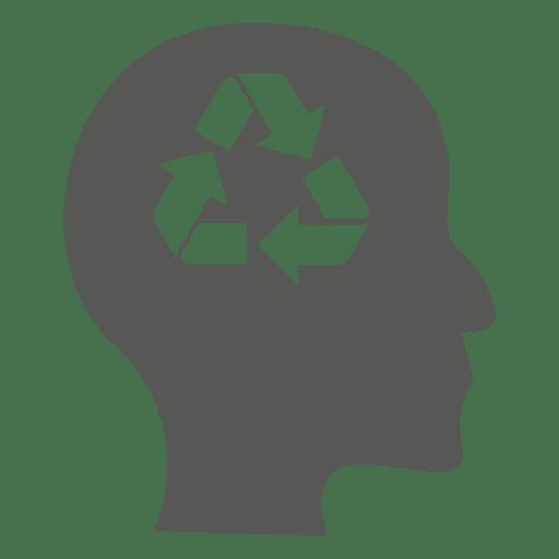 Reciclar la mente en la cabeza Transparent PNG