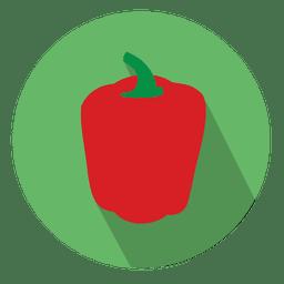 Icono de pimiento rojo