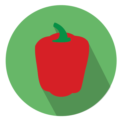 Red bell pepper icon Transparent PNG
