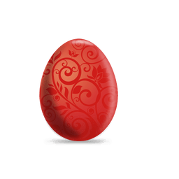 Red floral easter egg