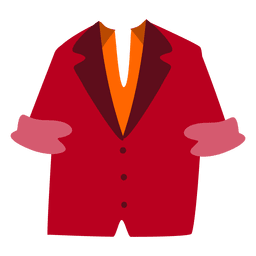 Chaqueta de hombre rojo