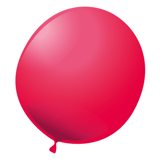 Red party balloon Transparent PNG