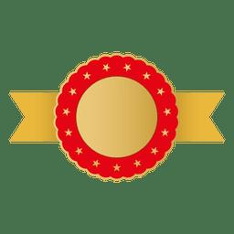 Fita dourada de borda vermelha