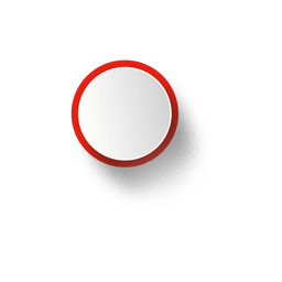 Weiße Ellipse mit rotem Rand