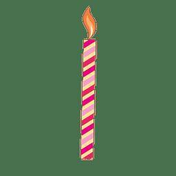 Vela de aniversário com listra vermelha