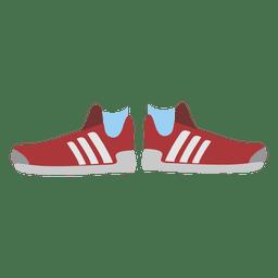 zapatillas de deporte de las mujeres de color rojo