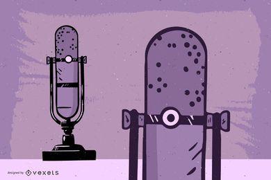 Micrófono de antaño