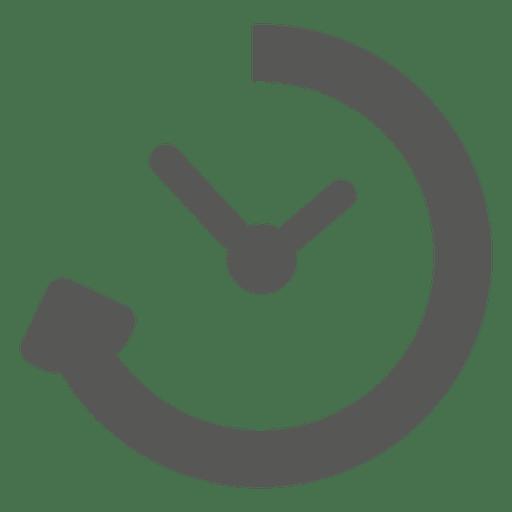 Icono de reloj temporizador de recarga
