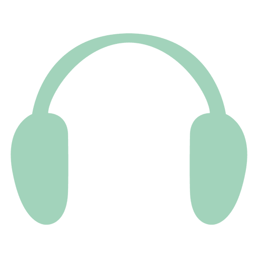Retro hipster headphone Transparent PNG