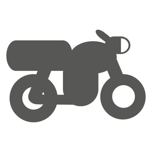 Retro motorbike side icon Transparent PNG