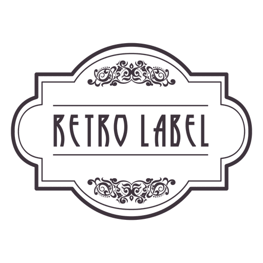 Retro ornament badge 2