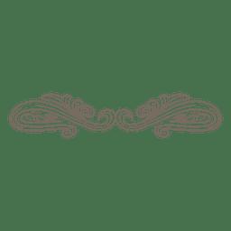 Decoração de divisor ornamentado retrô