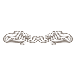 Retro ornate divider decoration