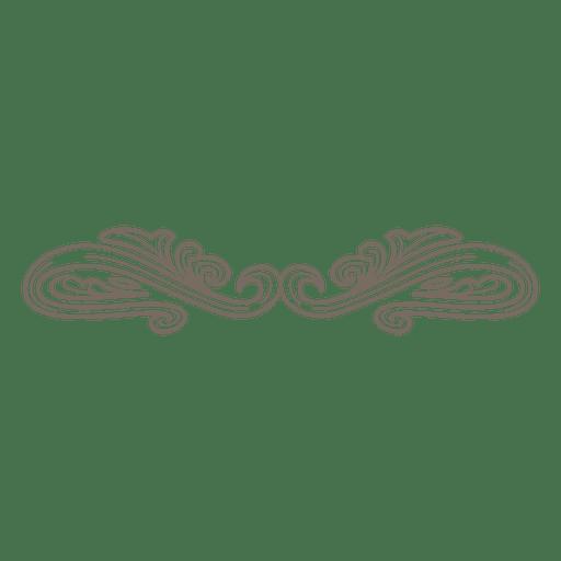 Decoração de divisor ornamentado retrô Transparent PNG