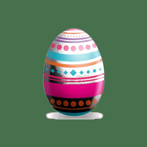Huevo de pascua de puntos rombos