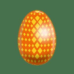 Rhombs painted easter egg