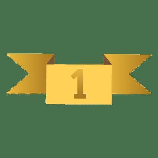 Ribbon award badge