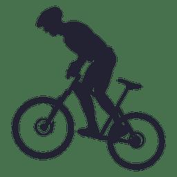 Montando bicicleta de montaña