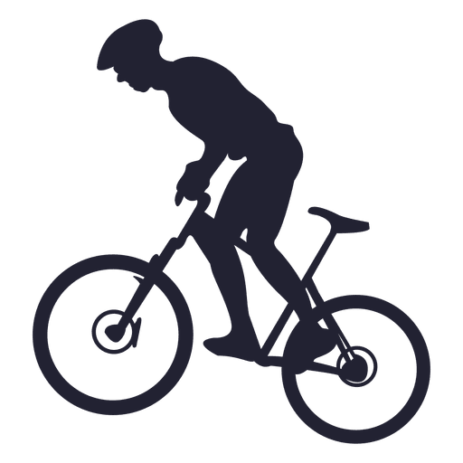 Riding mountain bike - Transparent PNG & SVG vector