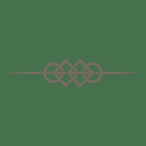 Rings squares lines divider Transparent PNG