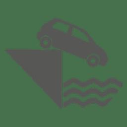Señal de tráfico de la orilla del río