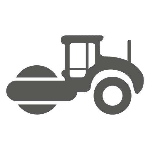 Road roller side icon Transparent PNG