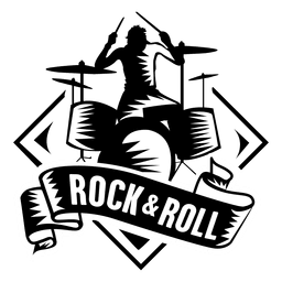 O rock and roll badge