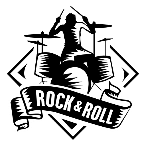 Rock and roll badge Transparent PNG
