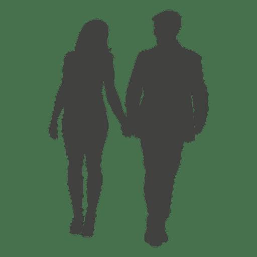Pareja romántica caminando silueta 7 Transparent PNG