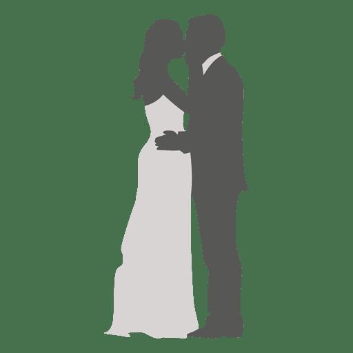 Casal romântico casamento beijando Transparent PNG