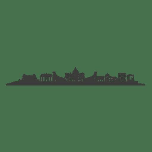 Rome skyline silhouette