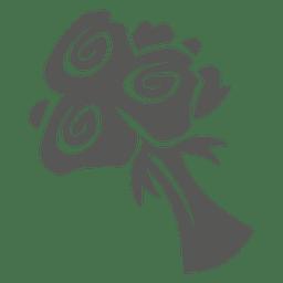 Icono de ramo de rosas
