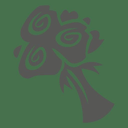 Rose bouquet icon