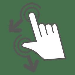 Rodar o ícone do gesto esquerdo