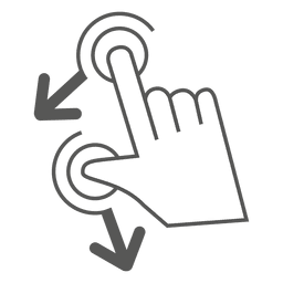 Rotate left gesture icon