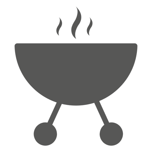 Round barbecue stove icon Transparent PNG