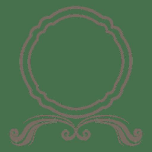 Round frame swirls decoration Transparent PNG