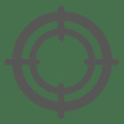 Round target sign