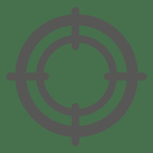 Round target sign Transparent PNG