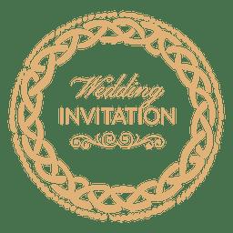 Etiqueta de invitación de boda redonda 1