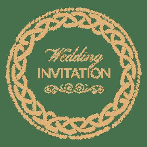 Round Wedding Invitation Label 1 Transparent Png Svg Vector