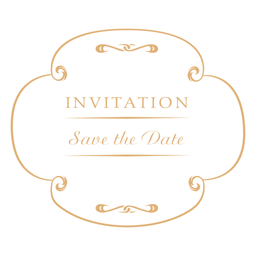 Round wedding invitation label 2 Transparent PNG