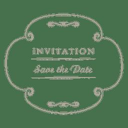 Round wedding invitation label 4