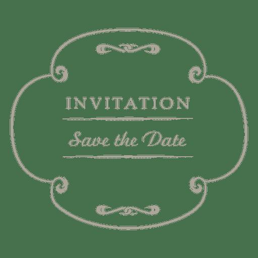 Round wedding invitation label 4 Transparent PNG