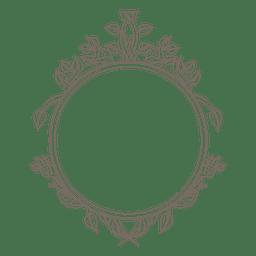 Abgerundeter Rahmen wirbelt Dekoration
