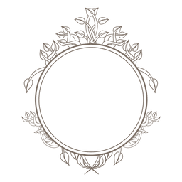 Decoración de remolinos de marco redondeado