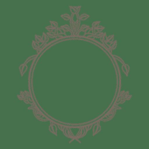 Decoración de remolinos de marco redondeado Transparent PNG