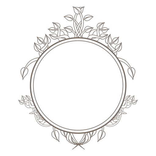 Rounded frame swirls decoration Transparent PNG