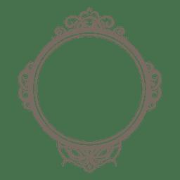 Abgerundeter verzierter Rahmen