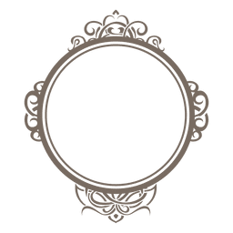 Rounded ornamented frame